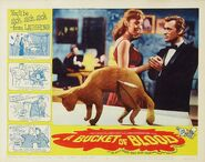 A Bucket of Blood Lobby Card 08 - Barboura Morris & Dick Miller