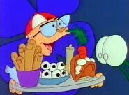 Little Shop of Horrors Cartoon - Seymour Krelborn with Finger Foods