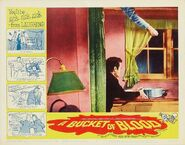 A Bucket of Blood Lobby Card 05 - Dick Miller