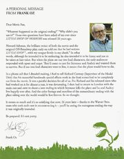 Little Shop of Horrors (1986) 2012 Blu Ray book 3 - A Personal Message From Frank Oz