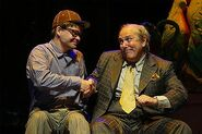 Hunter Foster and Lee Wilkof in Little Shop of Horrors