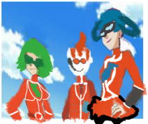 Random team flare scientists i made from anime by ccottonccandey-d83x6d0