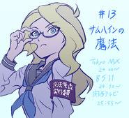 Little Witch Academia episode 13 illustration by Takafumi Hori (堀剛史) @porigoshi LWA