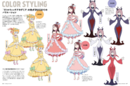 Red Team Dress Model Sheet Monthly MdN