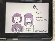 Gaelle (wearing a Skid Row shirt) and Akko's middle school friend standing side by side by Yusuke Yoshigaki (@hil8DieG0wrQ1Ei) LWA