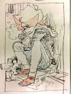 Amanda shivering in the cold by animator Kai Ikarashi 五十嵐 海 (@kaiikarashi)