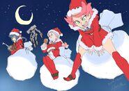 Merry Christmas by LWA animaton director and character designer Shuhei Handa (半田修平) @ebisu1984