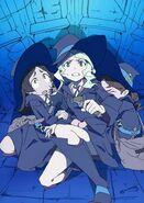 LWA Barbara, Diana and Hannah reacting in distress and alarm by Arai Hiroki