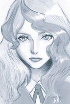 LWA Diana (realistic style) by character designer Shuhei Handa 半田 修平 (@ebisu1984)