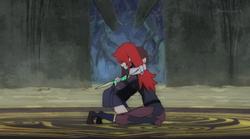 Akko and Chariot hug