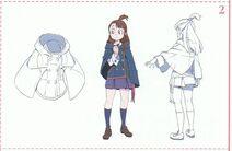 Akko With Luna Nova Attire Outside School Concept Design LWA