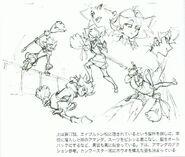 Amanda Stunts Concept Sketches LWA