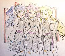 LWA Avery, Mary, and Blair by LWA Staff member Shiori Miyazaki (@gomi dame332)