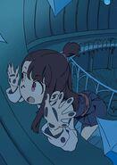 Akko looking closely through the window of Ursula's room by LWA Animator Arai Hiroki @arai 01