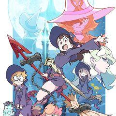 Jasminka y demás personajes principales en el póster promocional del anime.