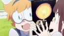 Lotte enseña a Akko el póster de la nueva edición de Night Fall T1E4