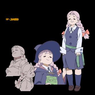 Diseño de personaje de Jasminka del sitio oficial del anime.