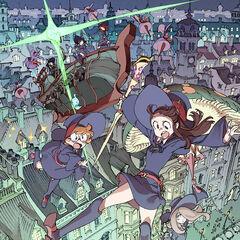 Jasminka, Amanda, Constanze, Akko, Lotte y Sucy en el póster promocional de de <i>The Enchanted Parade</i>.