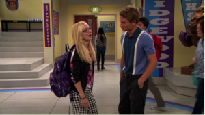 Josh and Maddie in Hallway