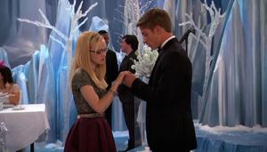 Josh holding Maddie's hand