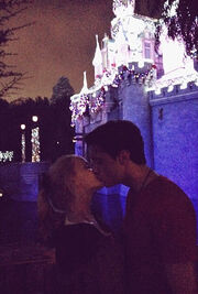 Ryan and Dove kissing