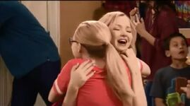 Liv and Maddie hugging