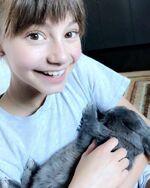 Lauren and bunny