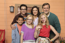 Liv and Maddie Family Outside