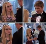 Maddie & Josh as Finn and Rachel