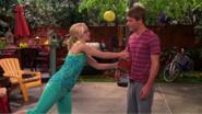 Josh and Maddie with Basketball