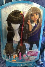 Daniela very long brunette wig