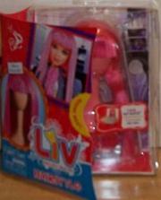 Long pink wig