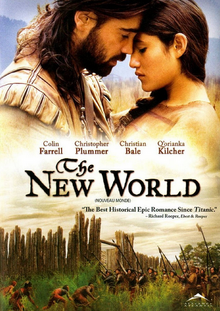 The New World 2005 DVD Cover