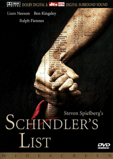 Schindler's List 1993 DVD Cover