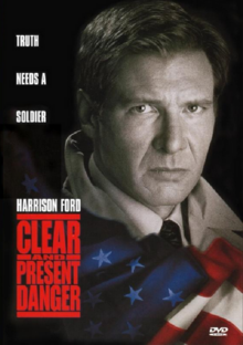 Clear and Present Danger 1994 DVD Cover
