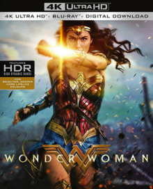 Wonder Woman 2017 Blu-Ray Cover