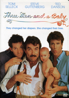 Three Men and a Baby 1987 DVD Cover