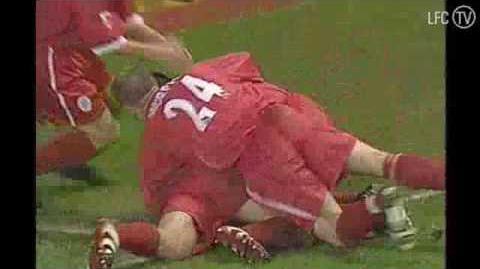 Steven Gerrard's first goal for LFC