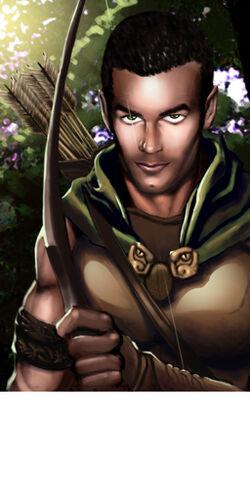 NWN portrait Half Elf Archer by Dozzy