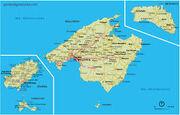 Illes balears mapa