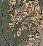 Vista de satèlit de Llofriu any 2009