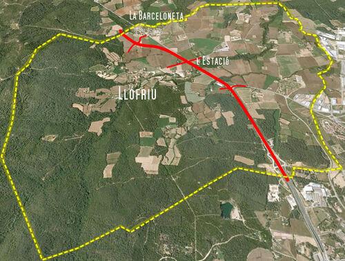 Afectació de l'Anella de les Gavarres a Llofriu