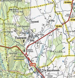 Mapa Torrent