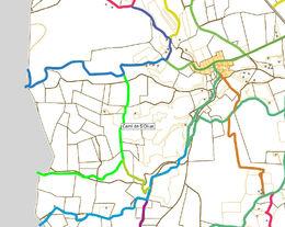 Mapa Camí de S'Oliua