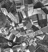 Fotografies històriques de Llofriu 1957 Fotografia aerea
