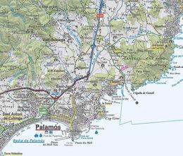 Mapa Palamós