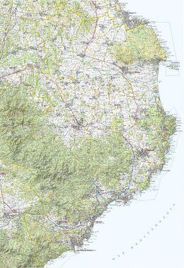 Mapa Comarcal 1 50000 Baix Empordà