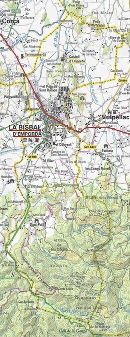 Mapa La Bisbal d'Empordà