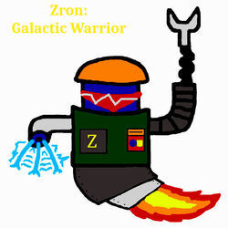 Zron Galactic Warrior Drawing