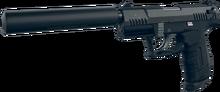 Silenced Handgun